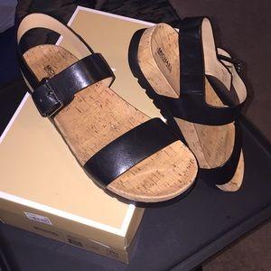 NWT- Michael Kors Black Sandals